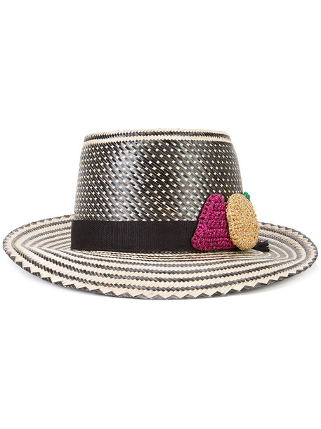 folk hat black