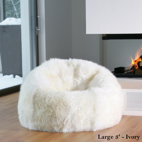Natural Sheepskin Beanbag Chairs Celebtx