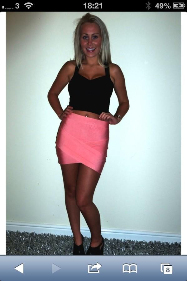skirt pink v bandage skirt