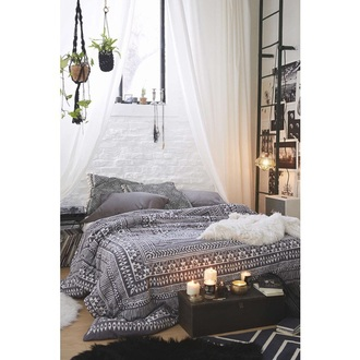 home accessory bedding grey hipster