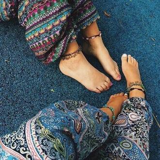 pants harem pants boho chic mandala hippie
