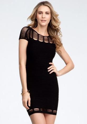dress black cut-out dress black dress