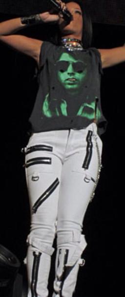 pants rihanna blouse