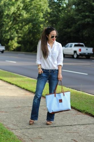 gracefullee made blogger shirt t-shirt jeans bag shoes sunglasses jewels make-up