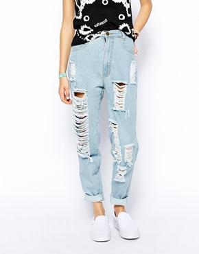 Your Eyes Lie | Рваные джинсы в винтажном стиле YourEyesLie на ASOS
