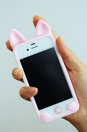 phone cover,iphone 6s phone case,pink,bunny,pastel phone case