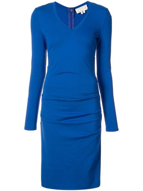 Nicole Miller dress women spandex blue