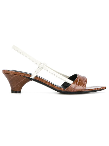 MARNI back women sandals leather brown shoes