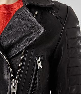 Womens Pitch Leather Biker Jacket (Black) | ALLSAINTS.com