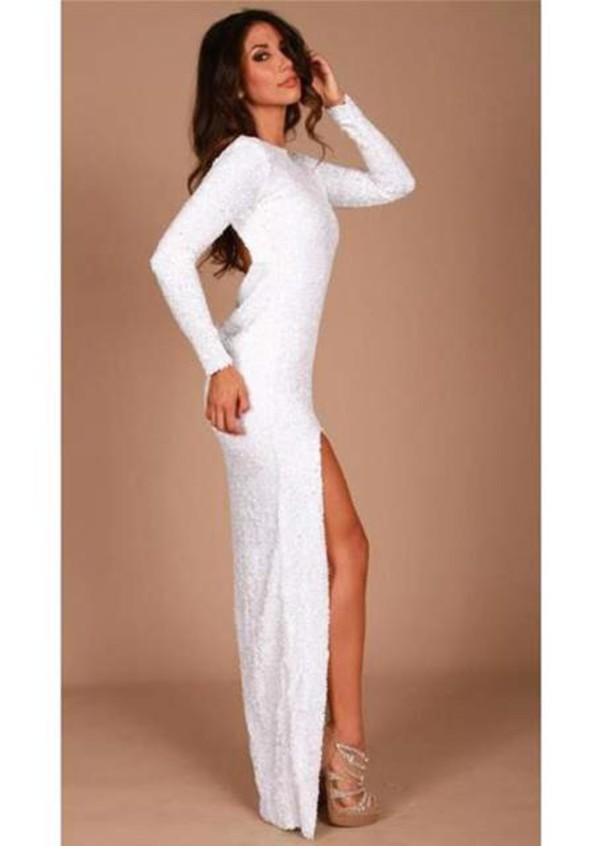 homecoming dress white dress long prom dress dress