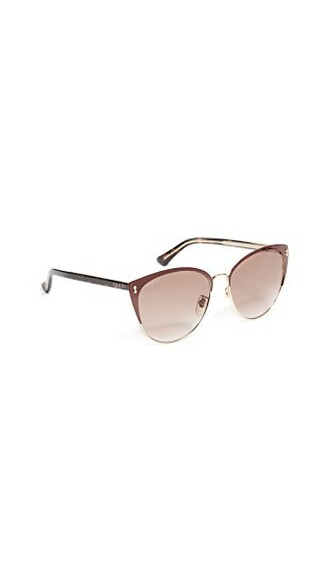 luxury sunglasses brown burgundy