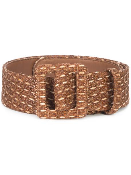women belt leather brown