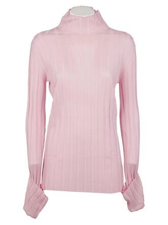 sweater knit pale pink
