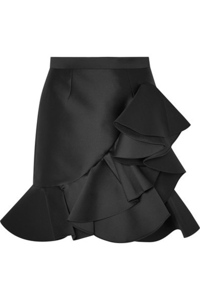 Stella McCartney skirt mini skirt mini black satin