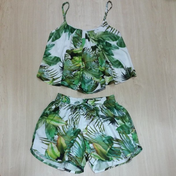 tank top two-piece two-piece shorts