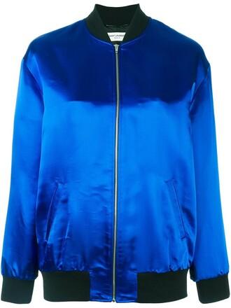jacket bomber jacket satin bomber sweet shark satin blue