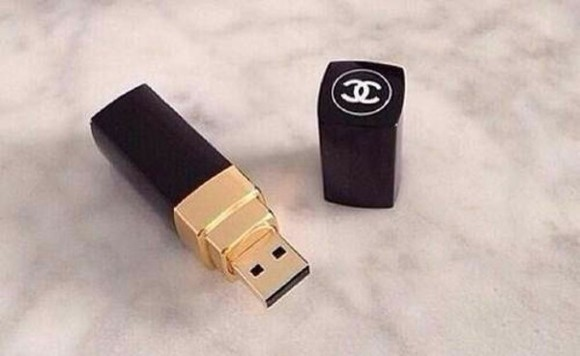 jewels amazing lovely chanel black usb fashion gold so nice