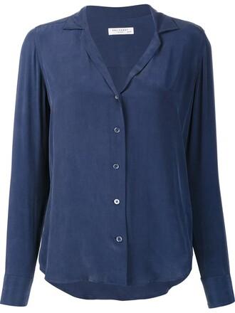 shirt women blue top