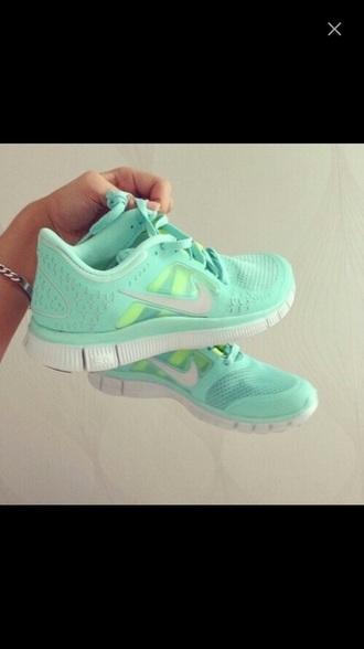 shoes aqua blue