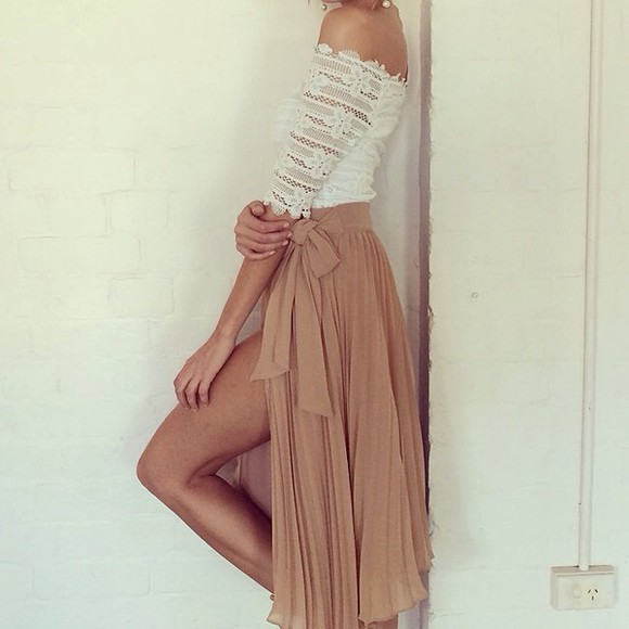 top shirt skirt lace