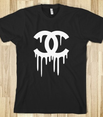 Chanel Bleeding Tee in Black - Tumblr Clothing - Skreened T-shirts, Organic Shirts, Hoodies, Kids Tees, Baby One-Pieces and Tote Bags Custom T-Shirts, Organic Shirts, Hoodies, Novelty Gifts, Kids Apparel, Baby One-Pieces | Skreened - Ethical Custom Apparel