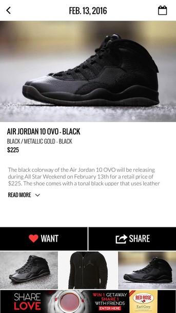 7b0a002c6d2 shoes, air jordan retro 10 ovo black - Wheretoget