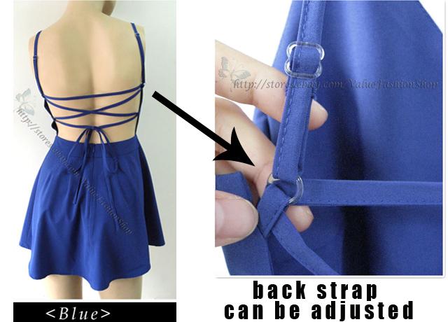 Womens Sexy Open Back Backless Deep V Neck A Line Summer Mini Dress XS s M L XL | eBay