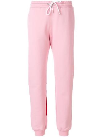 sweatpants women classic cotton purple pink pants