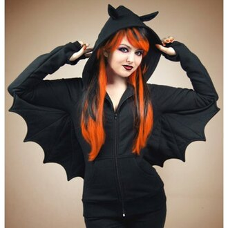 top bat goth black halloween rose wholesale