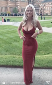 dress,grace fit,prom,gown,formal,burgundy,red,crossback,prom dress,red prom dress