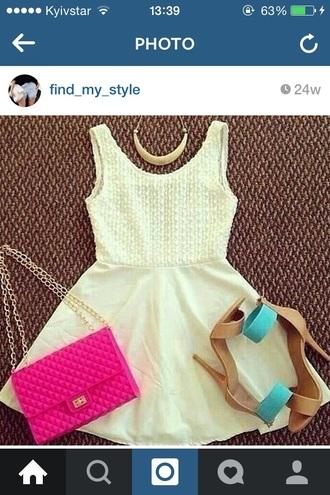 dress necklase jewels purse shoes heels bag