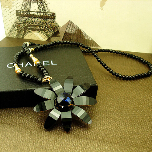 [grxjy5100328]retro sunflower pendant necklace