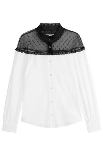 blouse top cotton white