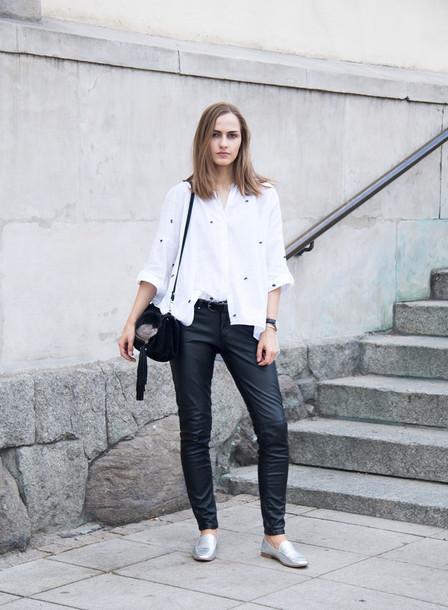 so in carmel blogger shirt pants shoes bag belt