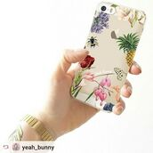 phone cover,yeah bunny,iphone case,iphone,cover,floral,accessories