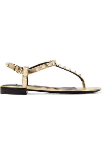 studded metallic sandals leather sandals leather gold shoes
