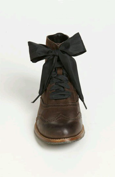 shoes oxfords boots bow