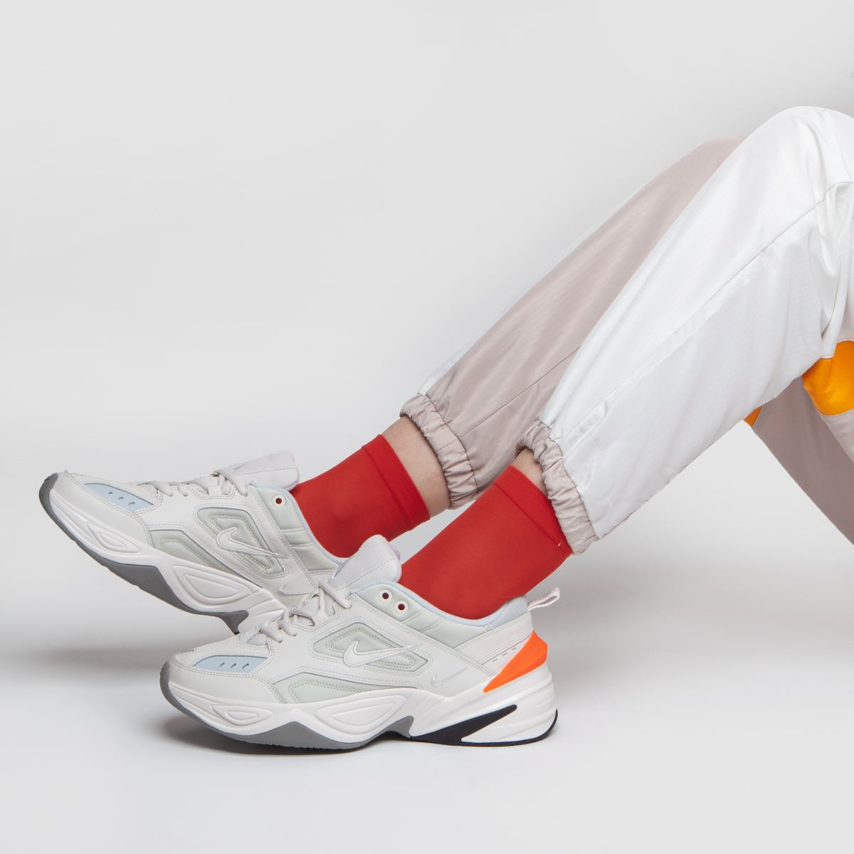 womens white & grey nike m2k tekno trainers | schuh