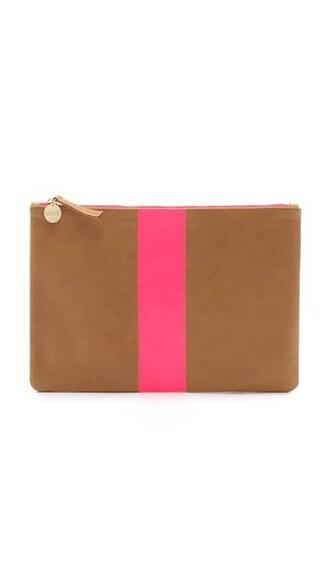 neon clutch pink camel neon pink bag