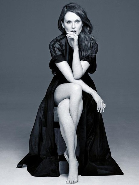 dress julianne moore black dress