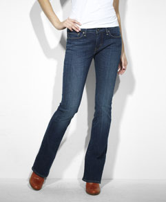 Skinny Boot Cut Jeans - Boot Cut Denim Skinny Jeans from Levi's