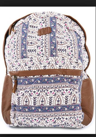 bag billabong and brown backpack