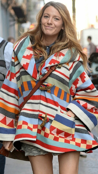 coat winter outfits fashion aztec pattern adorable