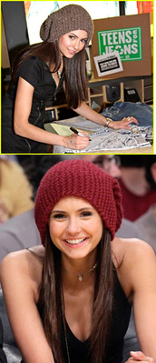 hat beanie hair accessories,nina dobrev,hat