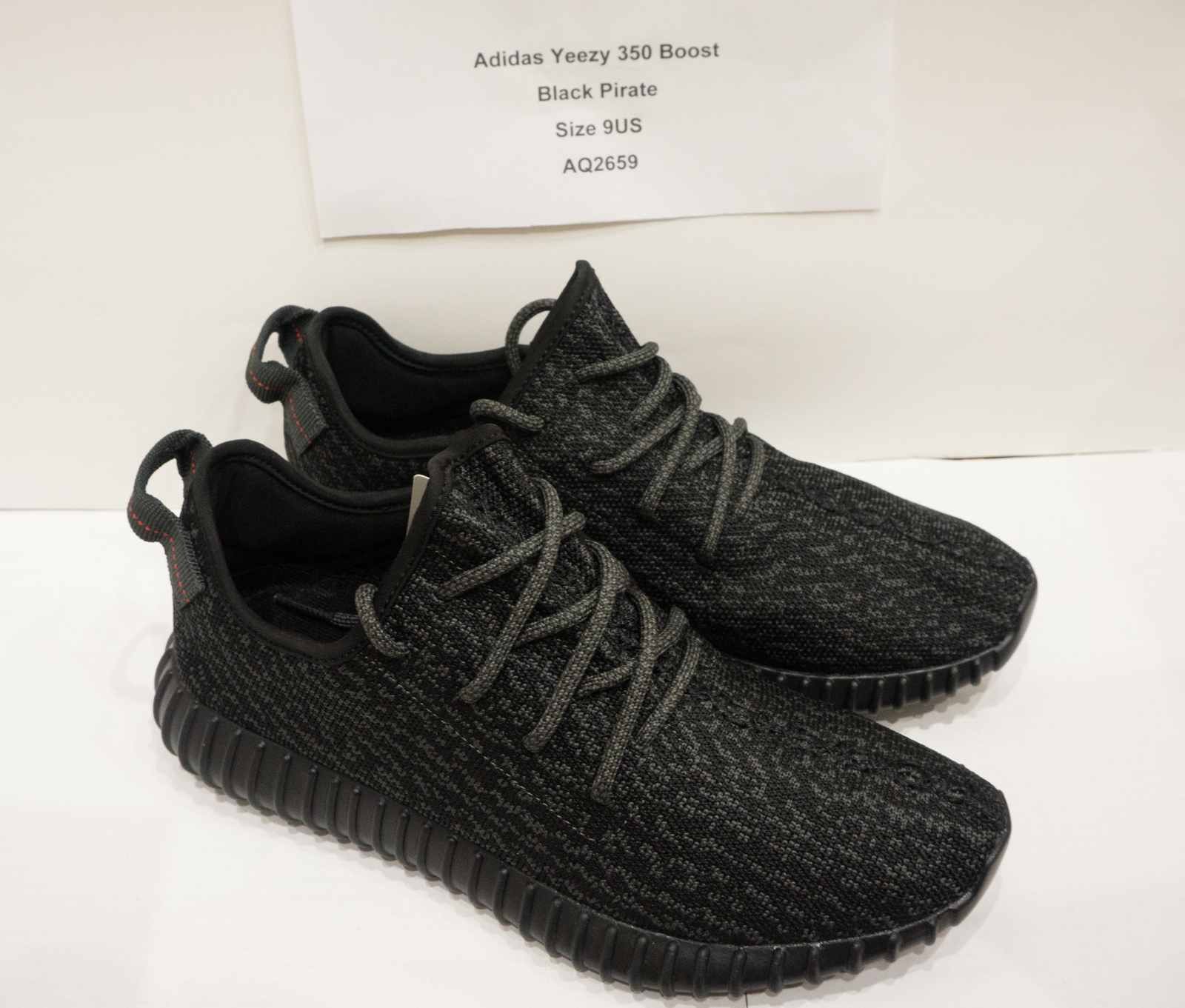 ae2741eee Adidas Yeezy 350 Boost Low Kanye West Triple Black Pirate Black AQ2659 Size  9US