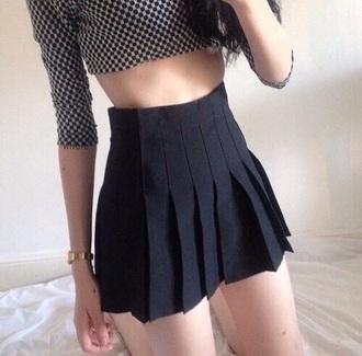 skirt black skirt pleated skirt cute skirts shirt