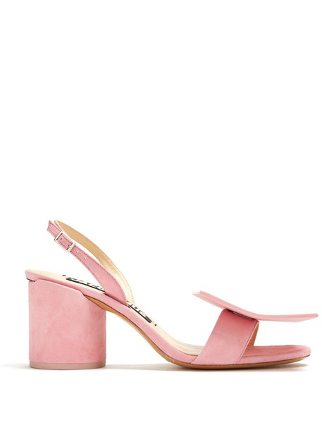 Jacquemus heel sandals suede pink shoes