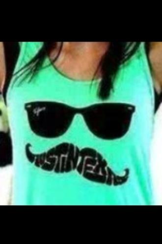 shirt sunglasses moustache