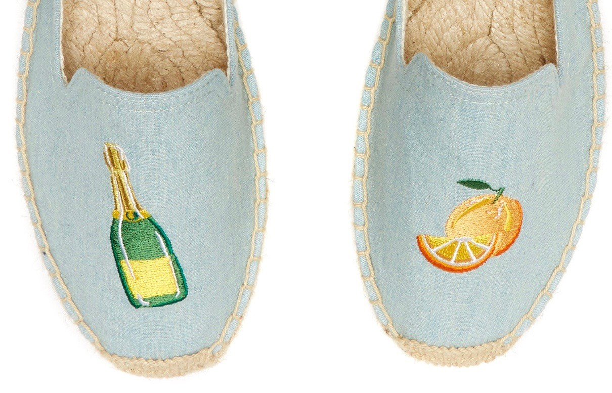 0d01e1bfc6d Soludos Mimosa Embroidered Platform Smoking Slipper in Chambray ...