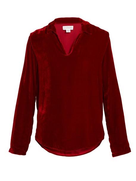 VELVET BY GRAHAM & SPENCER top velvet top velvet red